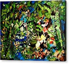 Trees Acrylic Print by Ellen Seymour