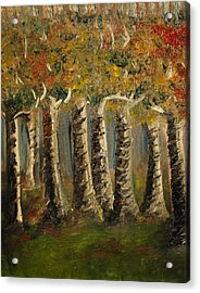 Acrylic Print featuring the painting Trees by Evelina Popilian