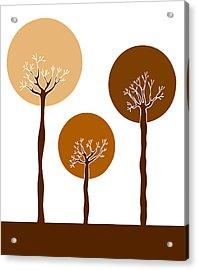 Trees Acrylic Print by Frank Tschakert