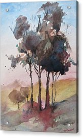 Acrylic Print featuring the painting Trees by Geni Gorani