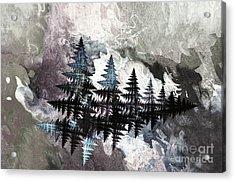 Trees Acrylic Print by Geraldine DeBoer