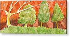 Trees In Light Acrylic Print by Linda Kay Thomas