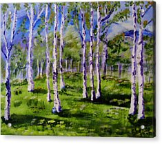 Trees In The Meadow Acrylic Print
