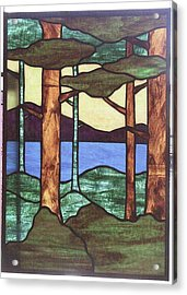 Trees Acrylic Print by Jane Croteau