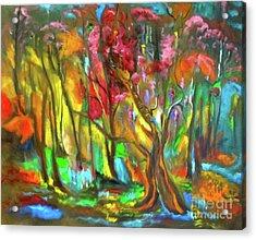 Trees Acrylic Print by Jenny Lee