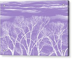 Acrylic Print featuring the photograph Trees Silhouette Purple by Jennie Marie Schell