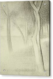 Trees  Study For La Grande Jatte Acrylic Print by Georges Pierre Seurat