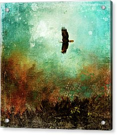 Treetop Eagle Flight Acrylic Print