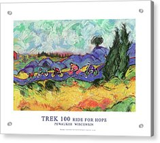 Trek 100 Poster Acrylic Print by Mykul Anjelo