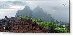 Trek Thru Kalalau Acrylic Print by RJ Bridges