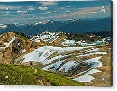 Trekking Ptarmigan Ridge Acrylic Print