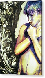 Acrylic Print featuring the painting Trembling Flower by Rene Capone