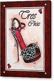 Tres Chic By Madart Acrylic Print by Megan Duncanson