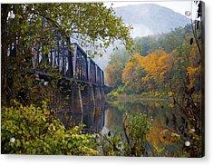Trestle In Autumn Acrylic Print by Hugh Smith