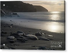 Acrylic Print featuring the photograph Photographs Of Cornwall Trevellas Cove Cornwall by Brian Roscorla