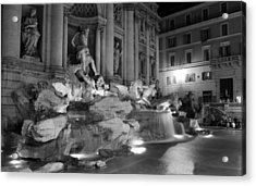 Trevi Fountain Night 2 Acrylic Print