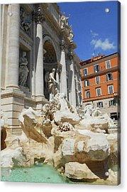 Trevi Fountain Rome Italy Acrylic Print