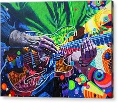 Trey Anastasio 4 Acrylic Print by Kevin J Cooper Artwork