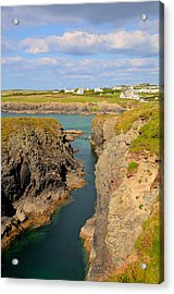 Treyarnon Bay Coast Cornwall England Uk Cornish North Colourful  Acrylic Print