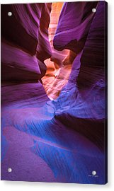 Tri-color- Lower Antelope Canyon Acrylic Print
