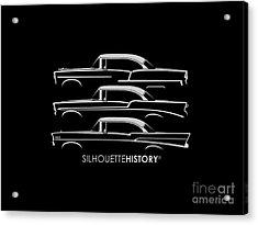 Tri-five Bel Air Silhouettehistory Acrylic Print by Gabor Vida