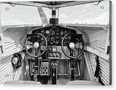 Tri-motor Cockpit - 2017 Christopher Buff, Www.aviationbuff.com Acrylic Print