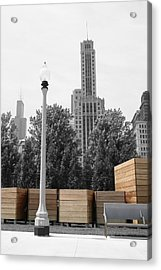 Acrylic Print featuring the photograph Tri Towers by Dylan Punke