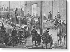 Trial Of Lincoln Assassins, 1865 Acrylic Print by Photo Researchers