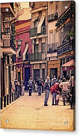 Acrylic Print featuring the photograph Triana On A Sunday Afternoon 2 by Mary Machare