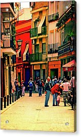 Acrylic Print featuring the photograph Triana On A Sunday Afternoon 3 by Mary Machare