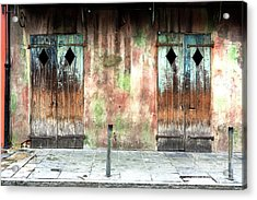 Triangle Doors At Preservation Hall Acrylic Print