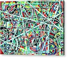 Triangle Interlacing Acrylic Print by Carolyn Coffey Wallace