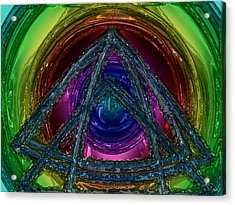 Triangle Acrylic Print by Patrick Guidato
