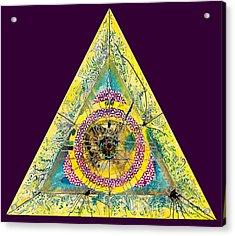 Triangle Triptych 2 Acrylic Print by Tom Hefko