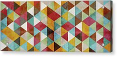 Triangles Circus Oil Panoramic Acrylic Print