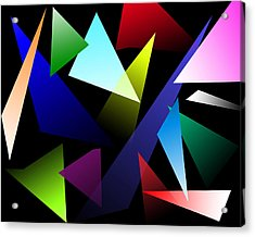 Triangles Acrylic Print by David Stasiak