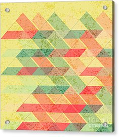 Triangles Pattern Acrylic Print