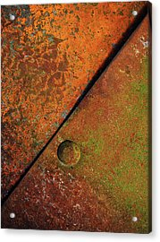 Acrylic Print featuring the photograph Triangular ...raw Steel by Tom Druin