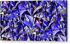 Triangulate Acrylic Print by Ron Bissett