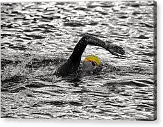 Triathlon Swimmer Acrylic Print by Ari Salmela