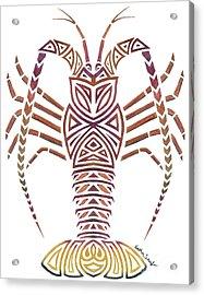 Tribal Caribbean Lobster Acrylic Print