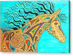 Tribal Carnival Spirit Horse Acrylic Print