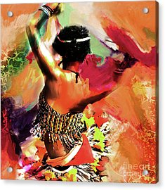Tribal Dance 0321 Acrylic Print by Gull G
