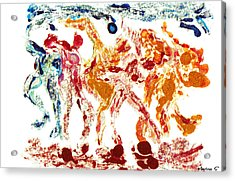 Tribal Dance Acrylic Print by M Images Fine Art Photography and Artwork