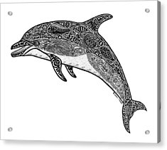 Tribal Dolphin Acrylic Print by Carol Lynne