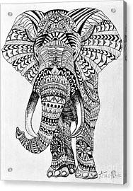 Tribal Elephant Acrylic Print