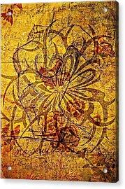Tribal Flower Acrylic Print by Paulo Zerbato