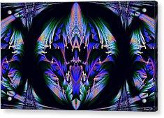 Tribal Fractal Acrylic Print by Evelyn Patrick