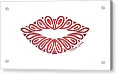 Tribal Lips Acrylic Print