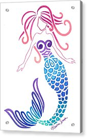 Tribal Mermaid Acrylic Print